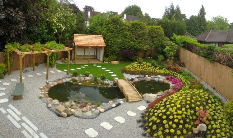 decoration jardin avec bassin
