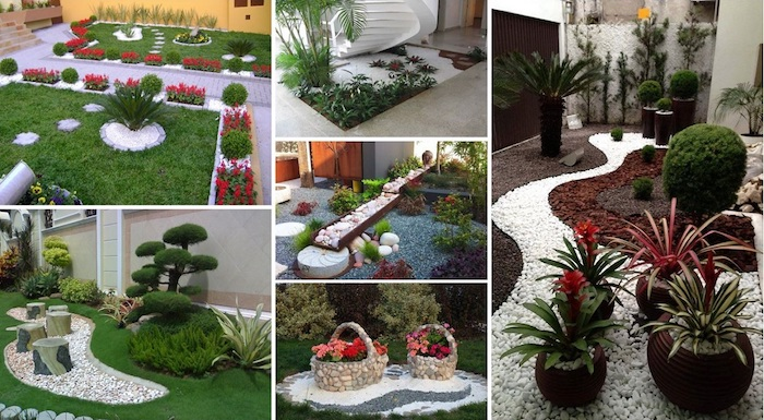 decoration jardin avec galets blanc