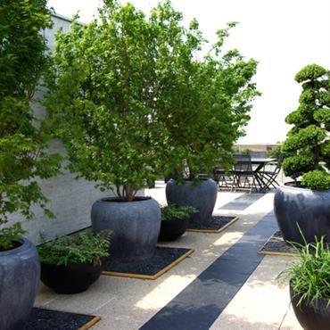 decoration jardin avec pots