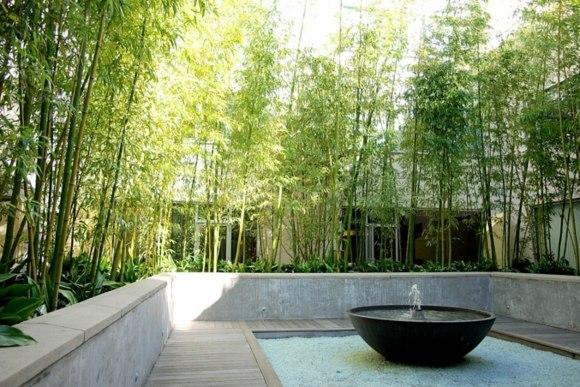 decoration jardin bambou