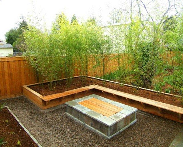 decoration jardin bois