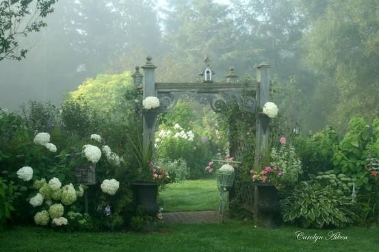 decoration jardin bucolique