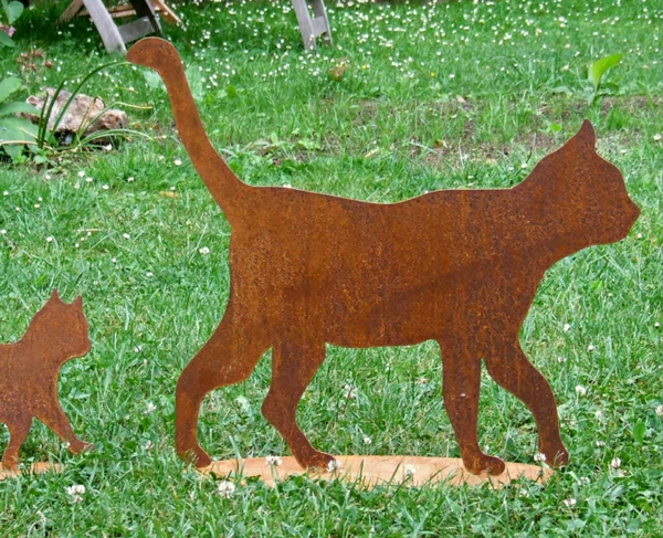 decoration jardin chat