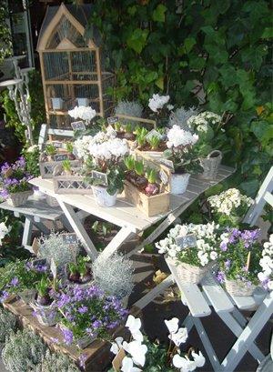 decoration jardin chic