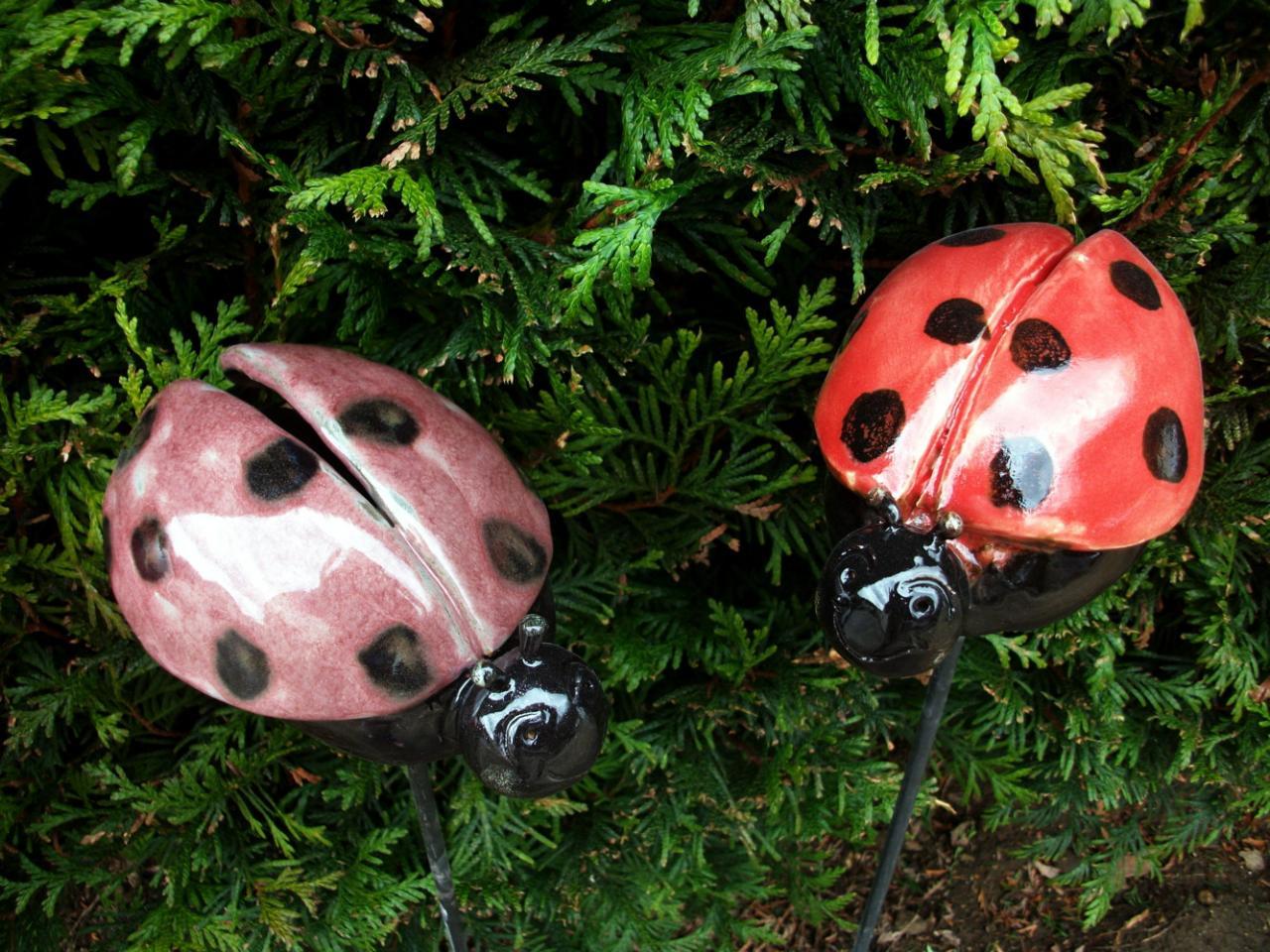 decoration jardin coccinelle