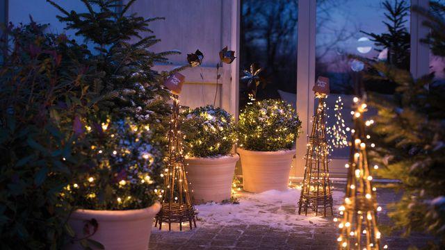 decoration jardin de noel