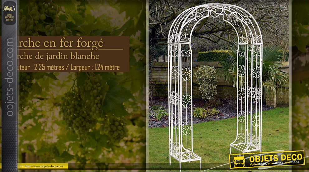 decoration jardin en fer forge. Black Bedroom Furniture Sets. Home Design Ideas