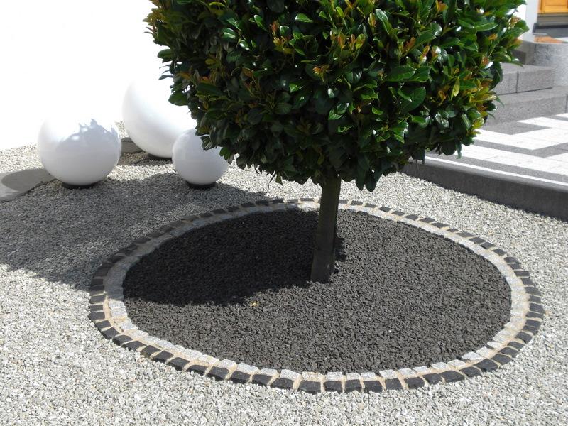 decoration jardin en gravier