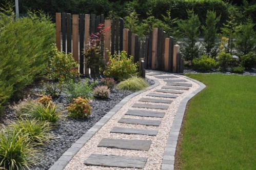 decoration jardin en longueur