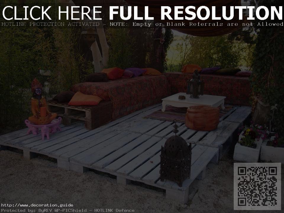 decoration jardin en palette