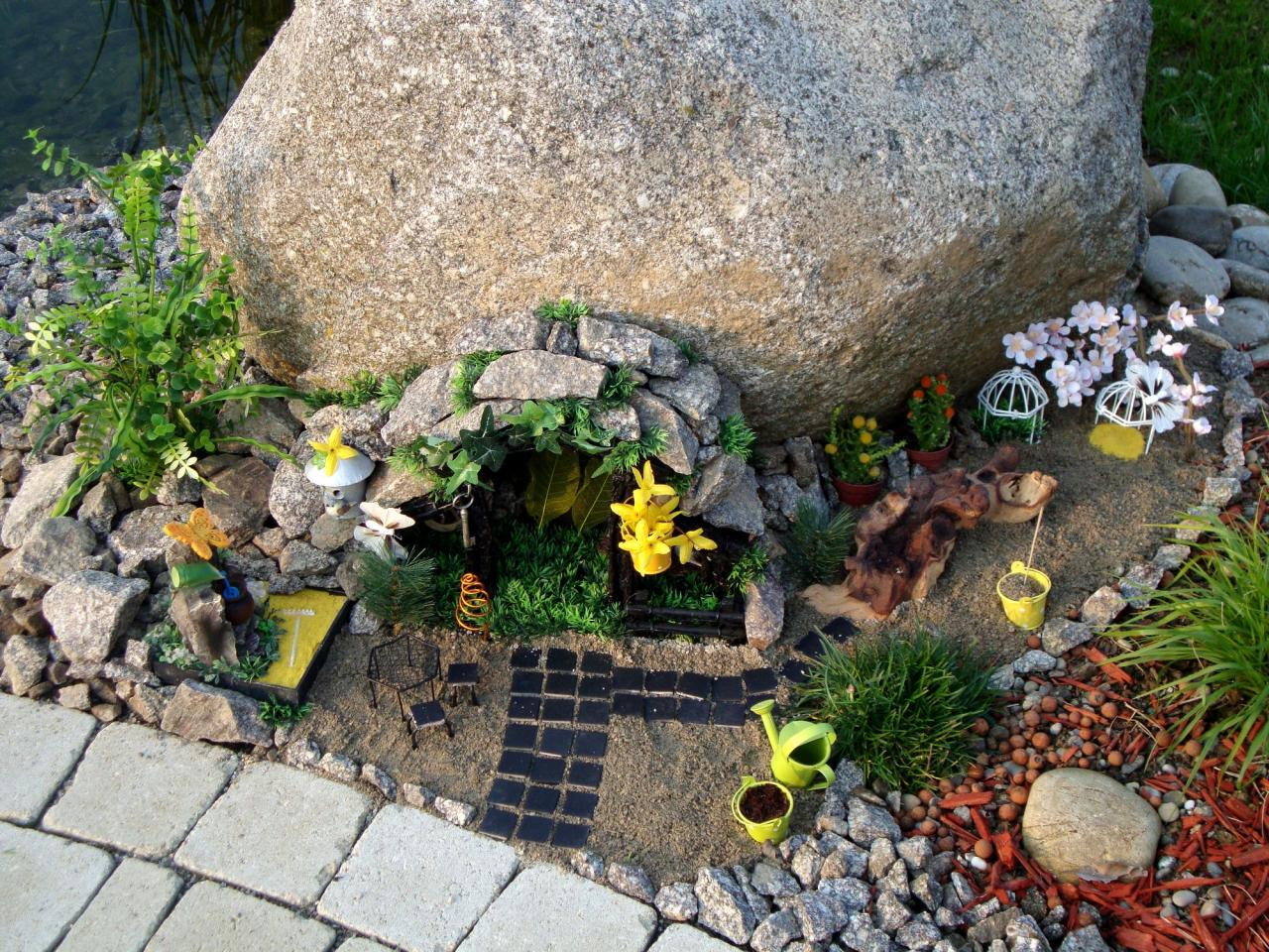 decoration jardin feerique