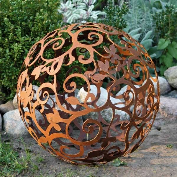 decoration jardin fer rouille