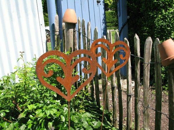 decoration jardin fer