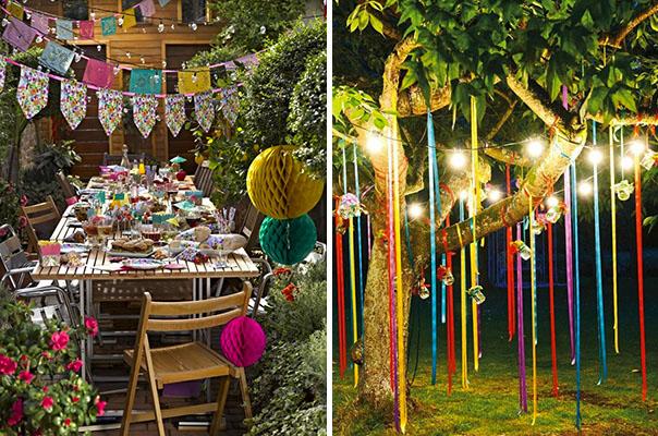 decoration jardin fete