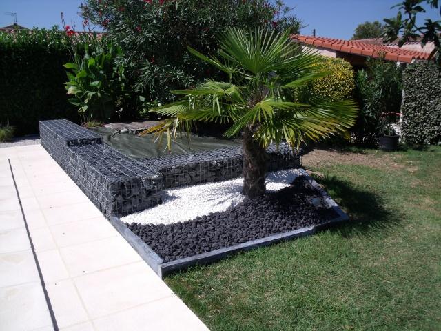 decoration jardin gabion