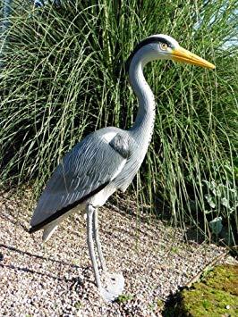 decoration jardin heron