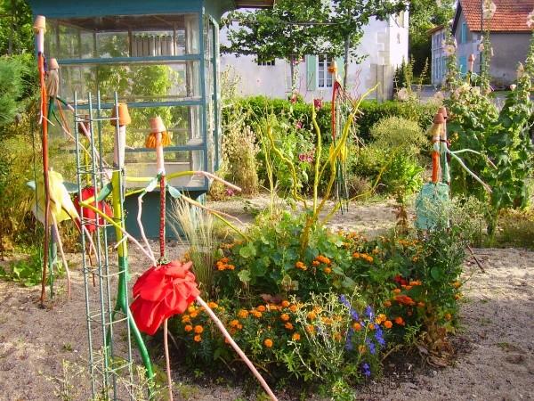 decoration jardin insolite