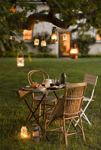 decoration jardin lanterne