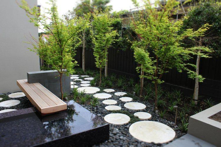 decoration jardin maison moderne