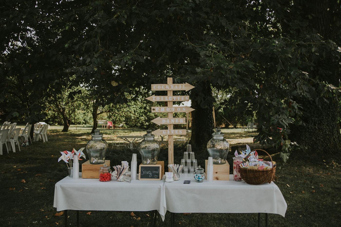 decoration jardin mariage champetre
