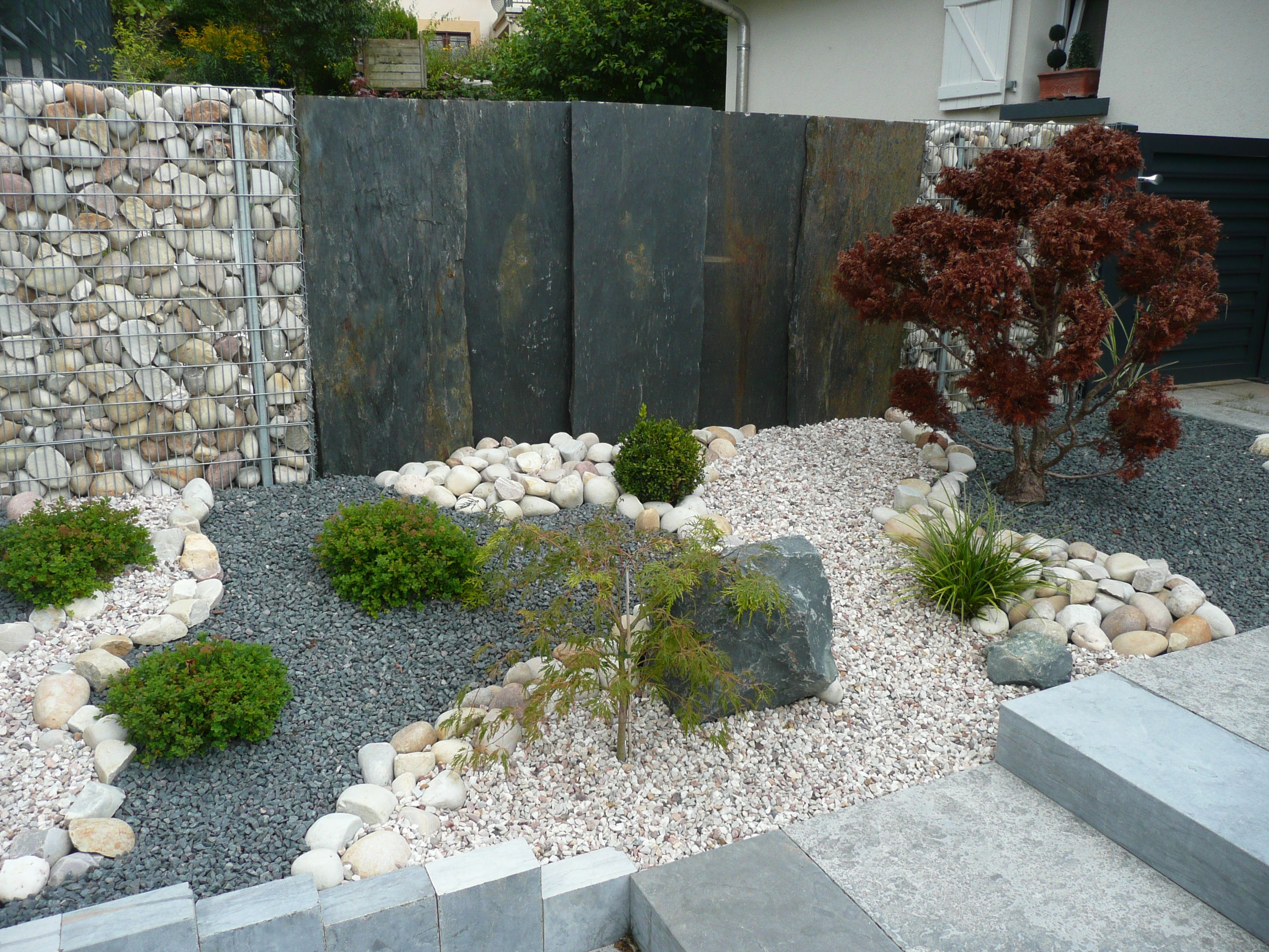 decoration jardin mineral