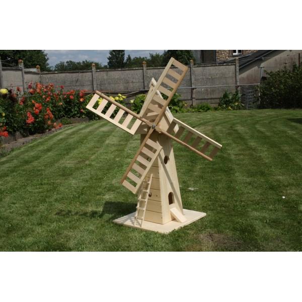 Decoration jardin moulin en bois - Deco jardin bois exterieur ...