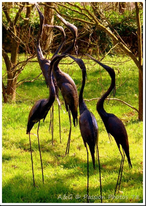 decoration jardin oiseau metal