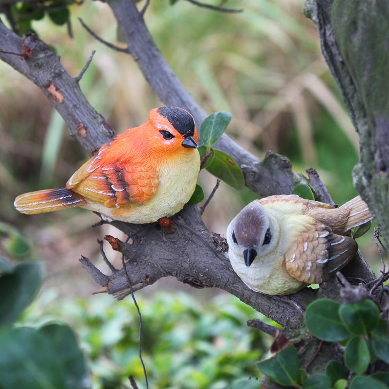 decoration jardin oiseau