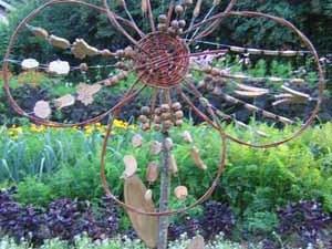 decoration jardin osier