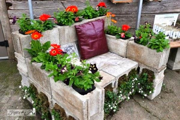 decoration jardin pneu
