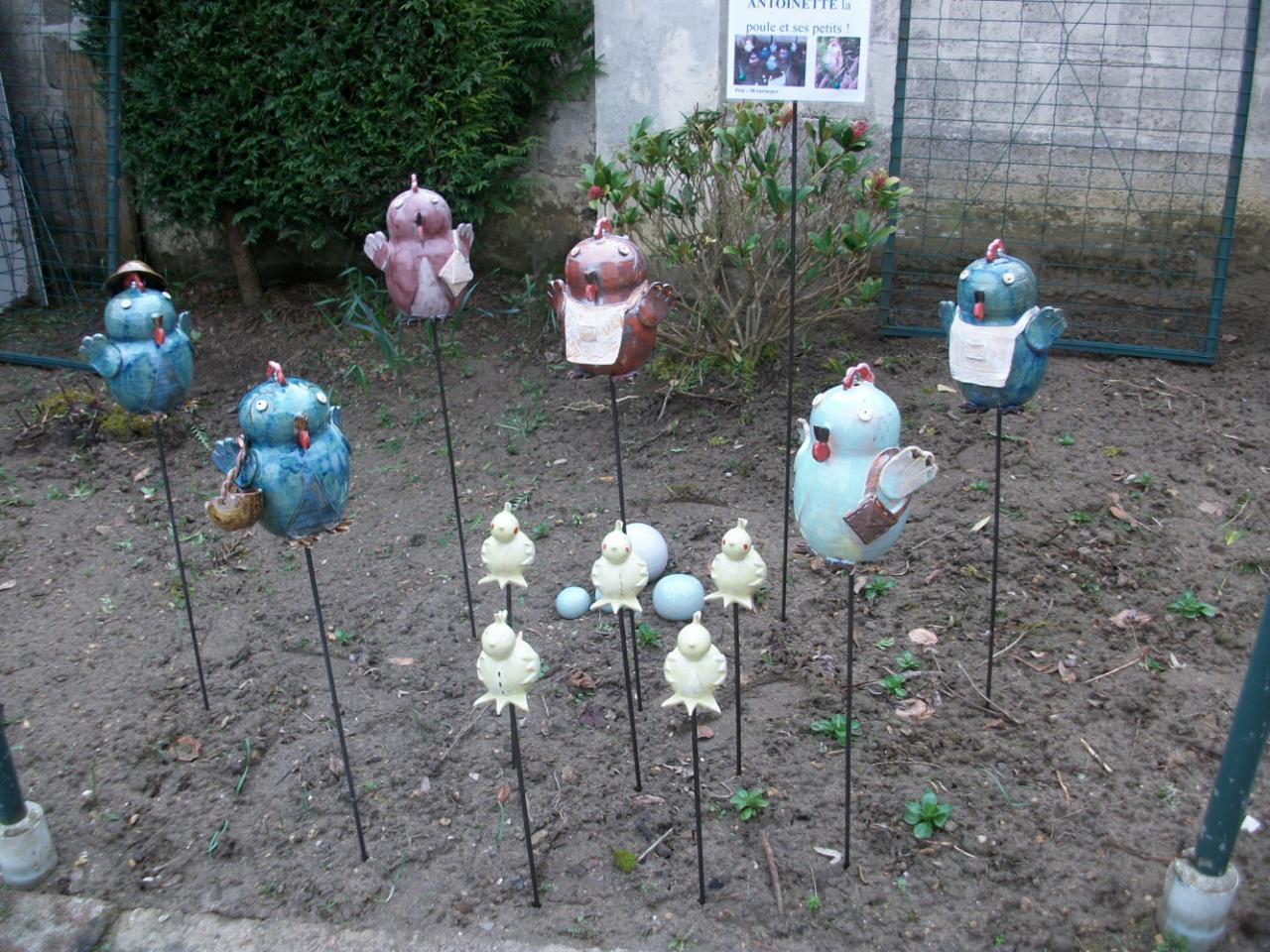 decoration jardin poterie