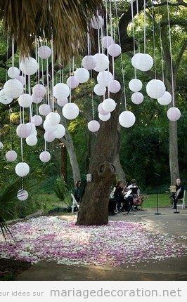 decoration jardin pour mariage