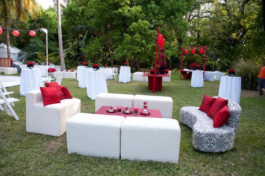 decoration jardin pour un mariage
