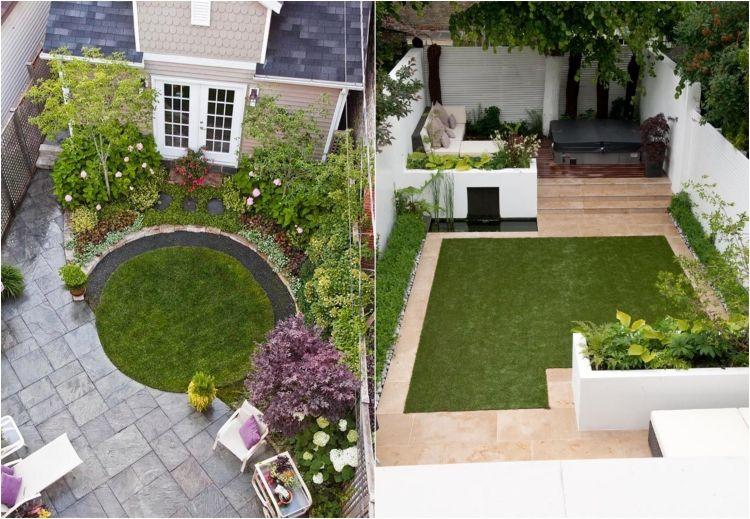 decoration jardin rectangulaire
