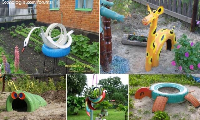decoration jardin recyclage