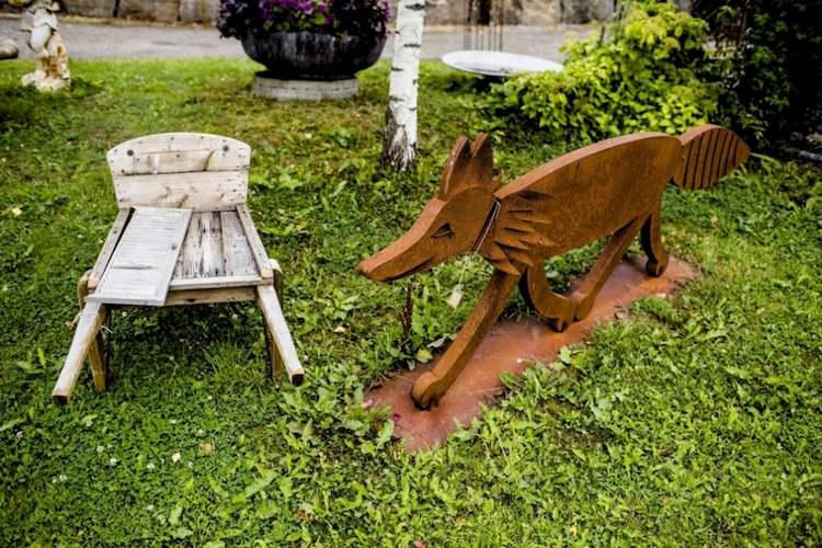decoration jardin renard