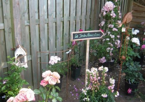 decoration jardin romantique
