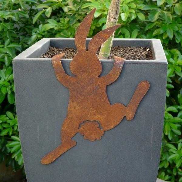 decoration jardin rouille