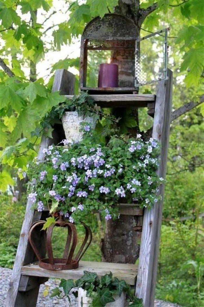 decoration jardin rustique