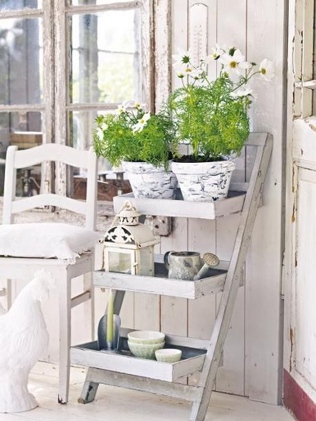 decoration jardin shabby chic