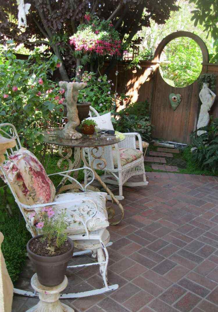 decoration jardin shabby