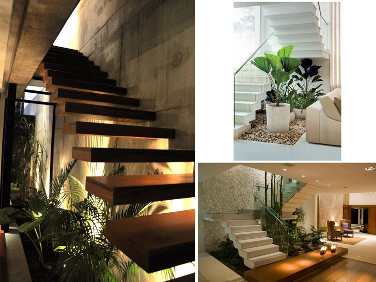 decoration jardin sous escalier