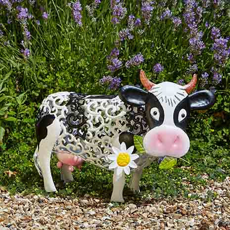 decoration jardin vache