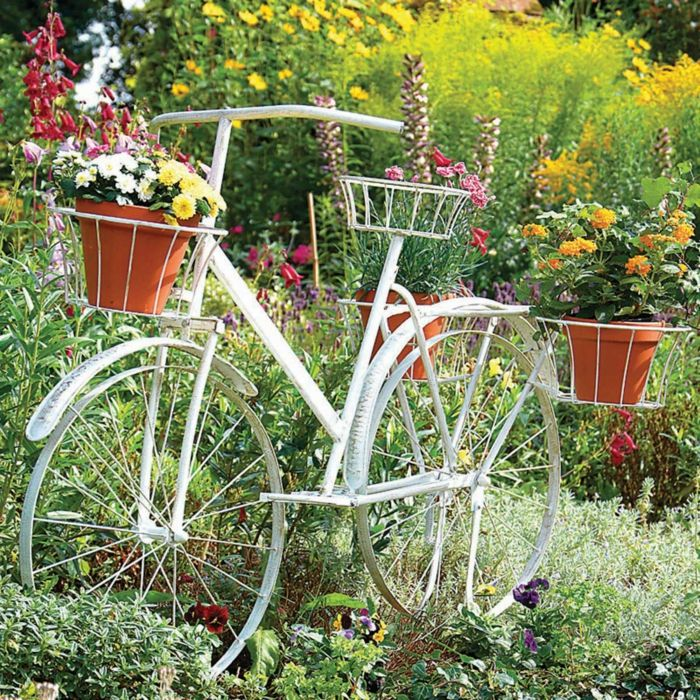 decoration jardin velo