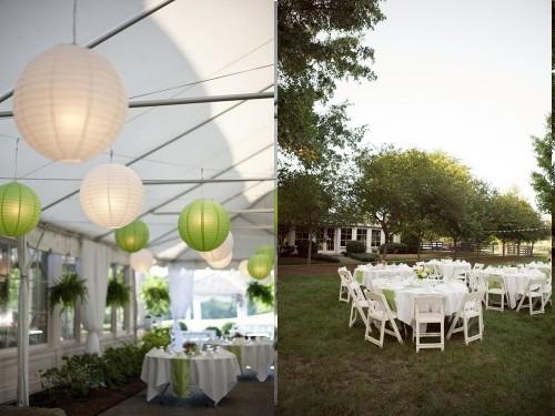 decoration jardin vert anis