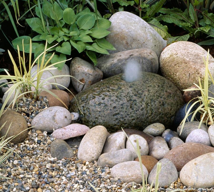 idee jardin avec fontaine