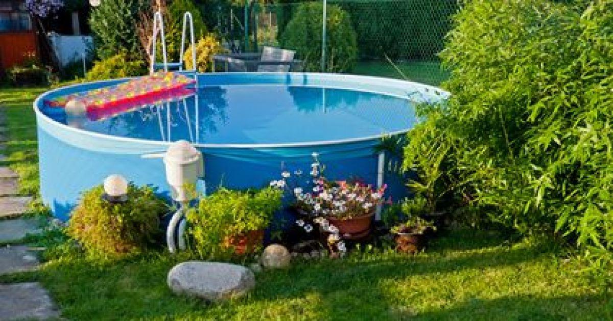 idee jardin avec piscine hors sol