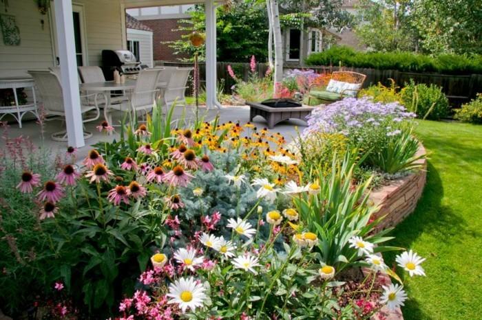 Idee De Massif De Jardin. Elegant Massif De Fleurs With Idee De ...