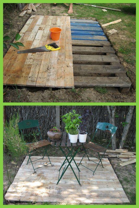 idee jardin en palette