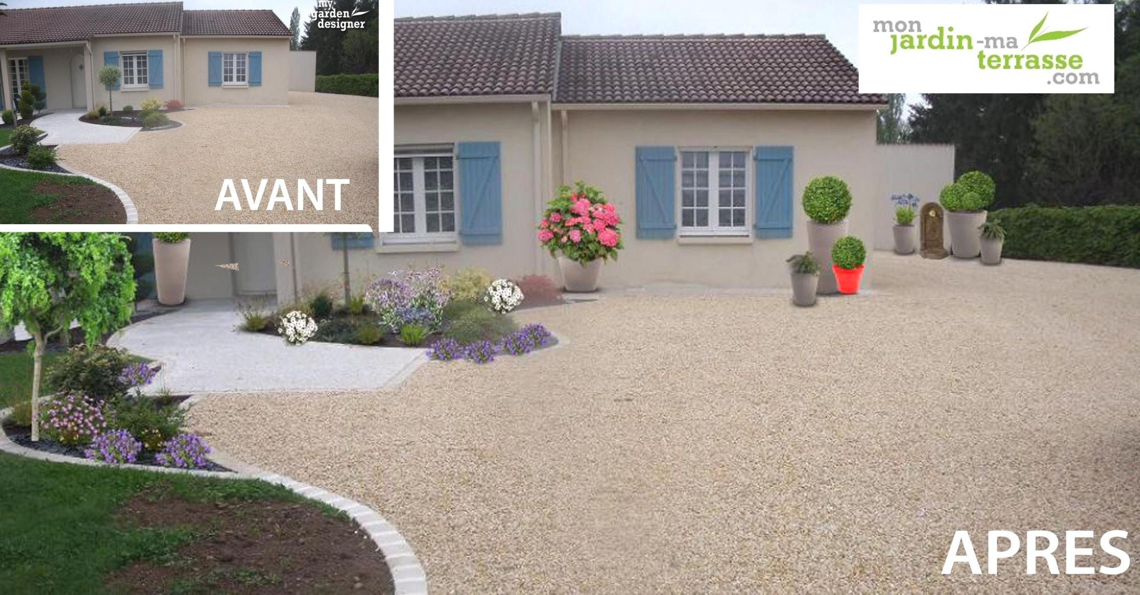 idee jardin entree maison